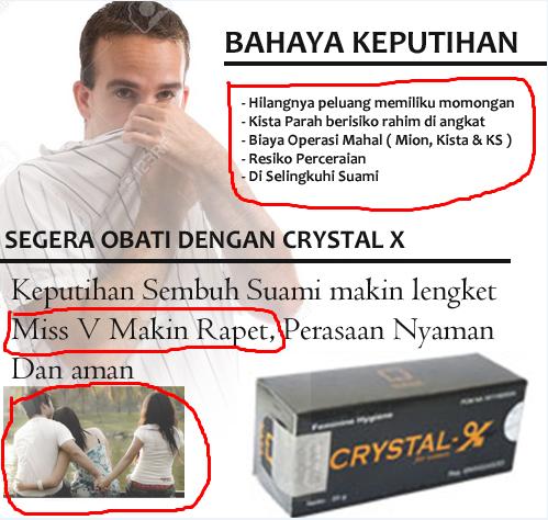 Distributor Resmi Crystal x Di bekasi